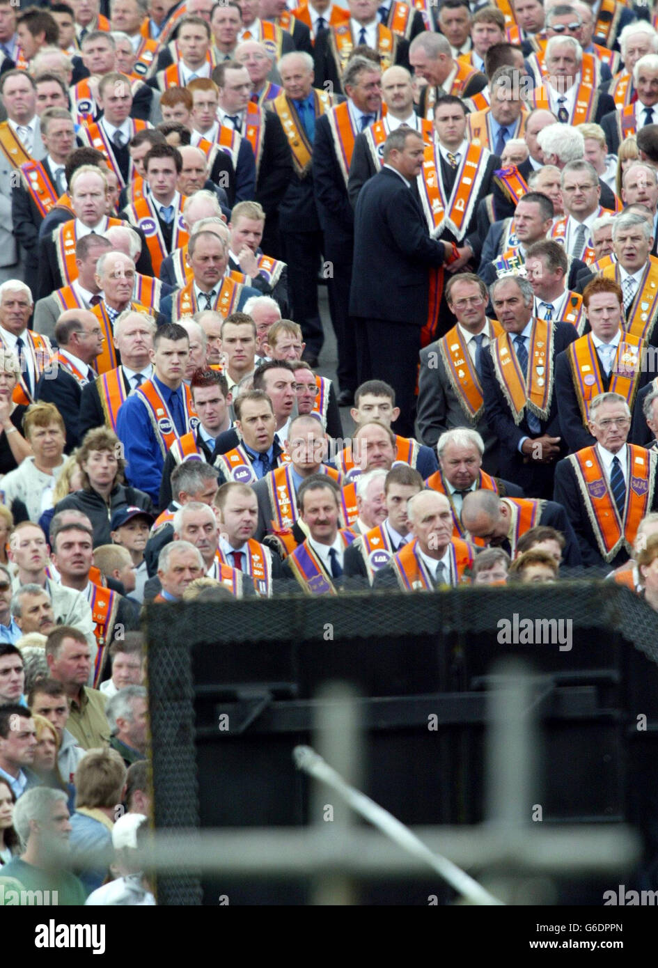 Portadown Orangemen Stock Photo