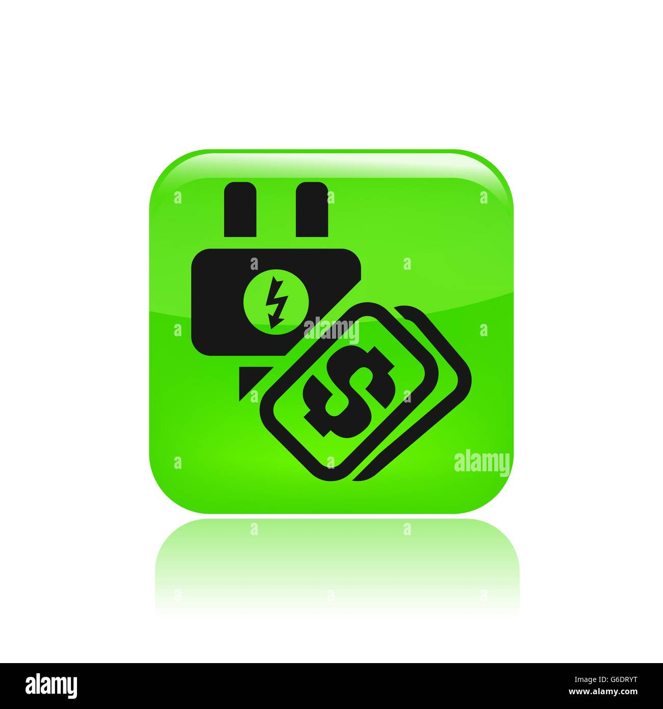 Vector illustration of single isolated energy cost icon - Stock Vector