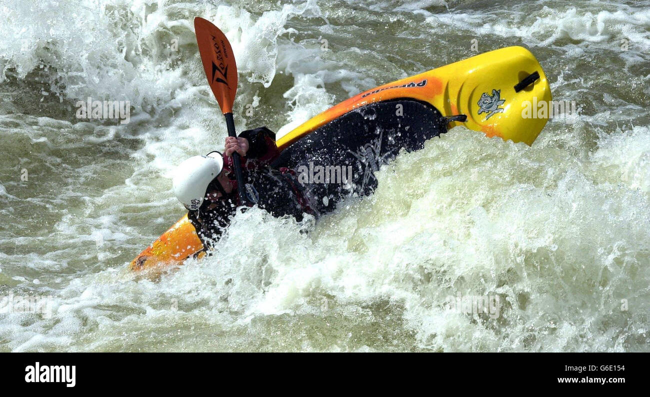The Thames Manmade rapids - Stock Image