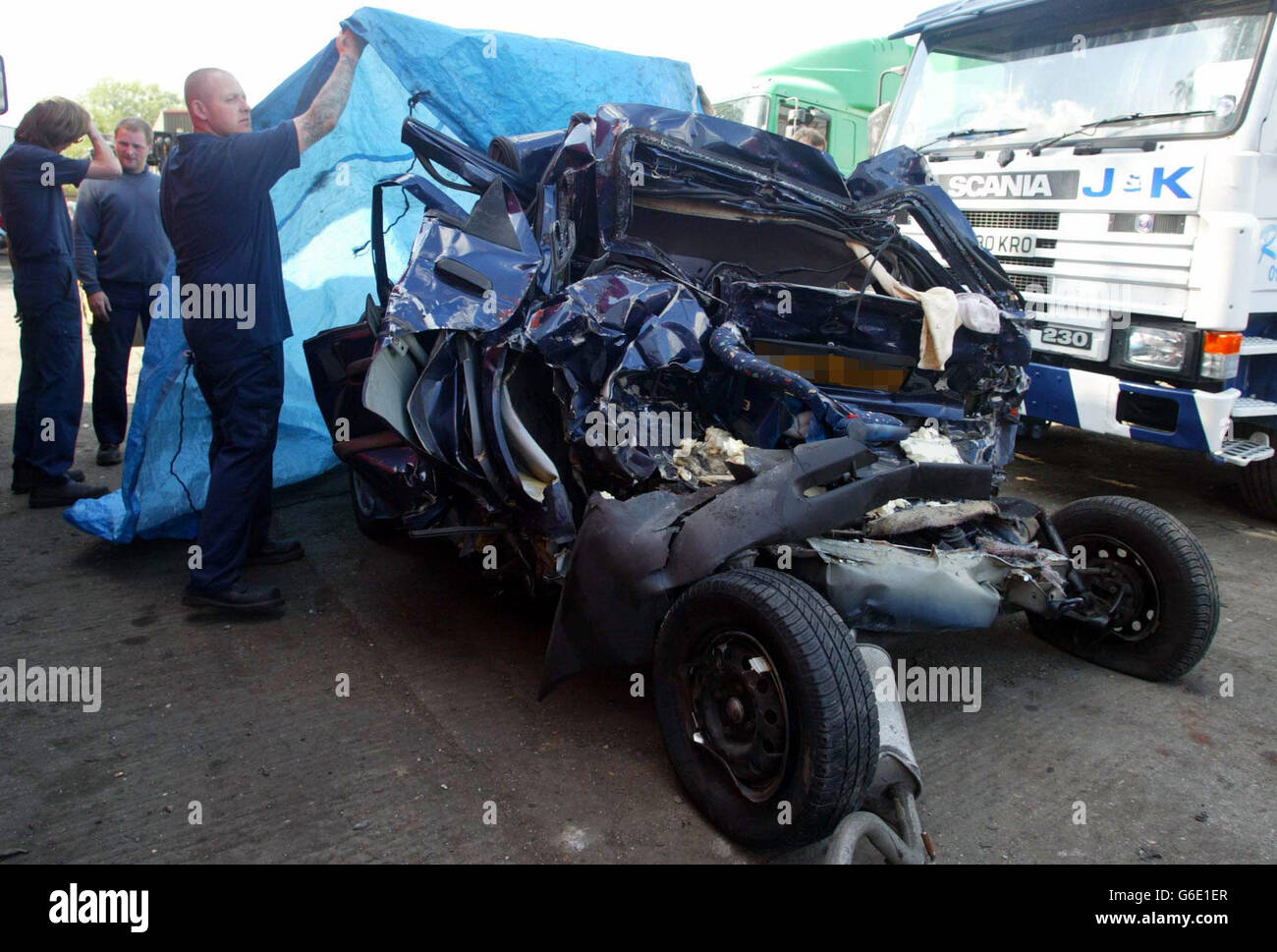 Family Killed in Accident on the M1 Stock Photo: 107258671 - Alamy