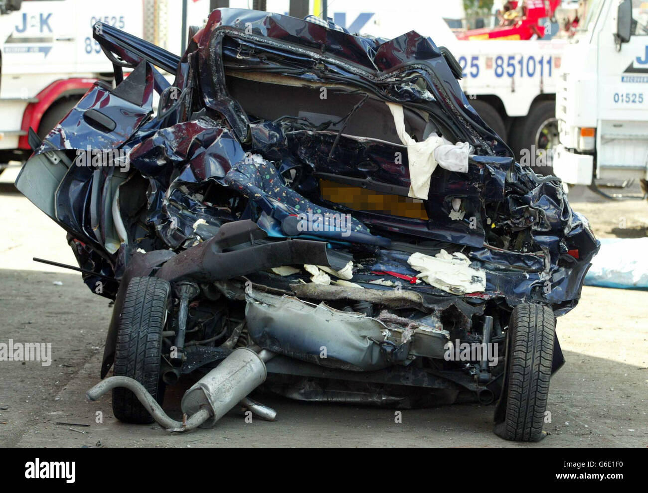 Family Killed in Accident on the M1 Stock Photo: 107258676 - Alamy
