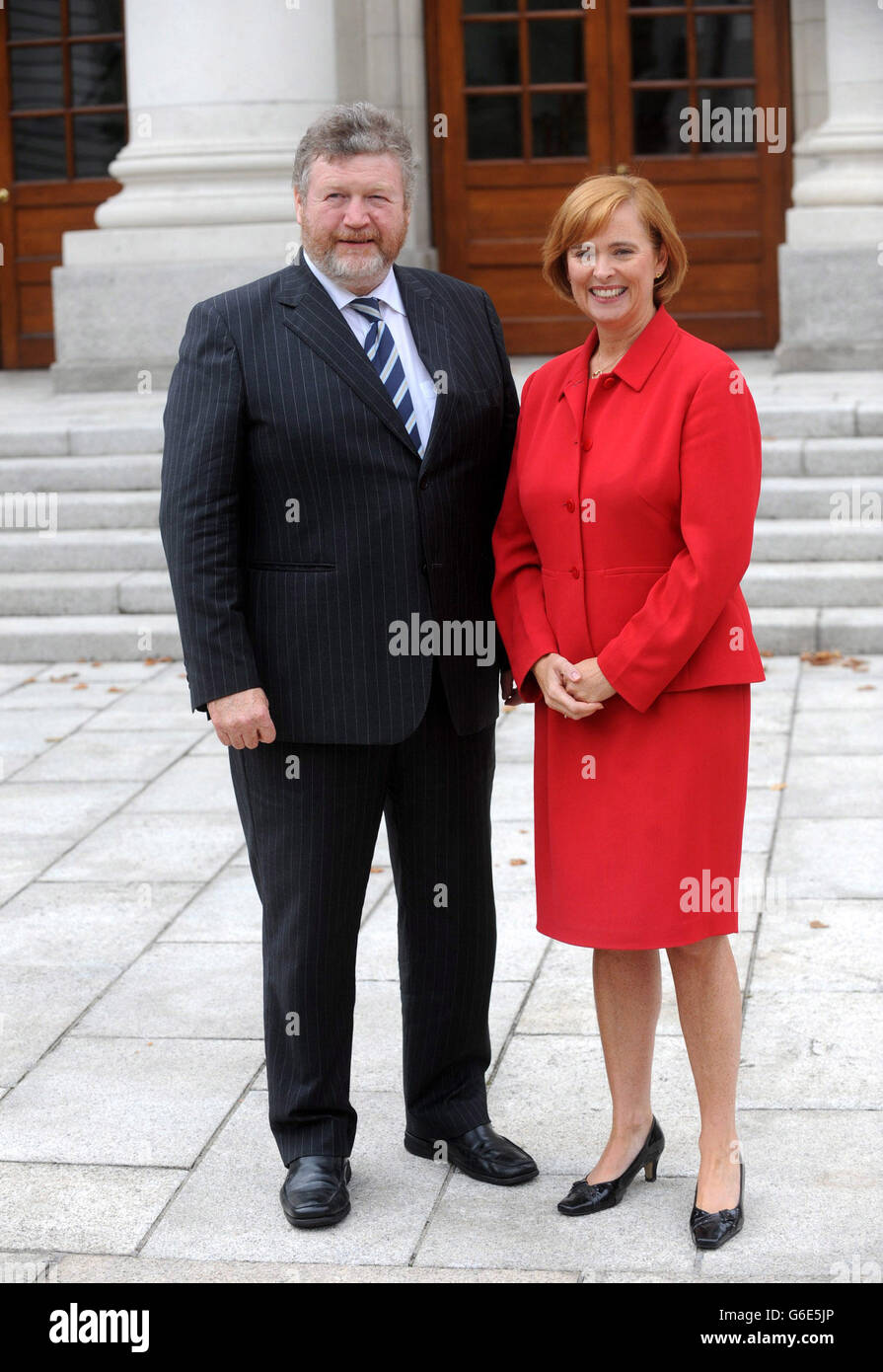 HEALTH Childrens - 13 Sept 2013 Minister for Health, Dr. James Reilly TD. with Ms Eilish Hardiman. Photocall to Stock Photo