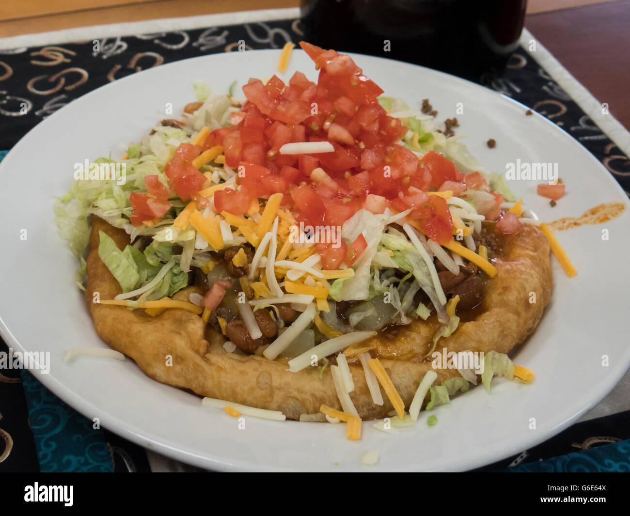 Navajo Taco, Farmington, New Mexico. - Stock Image