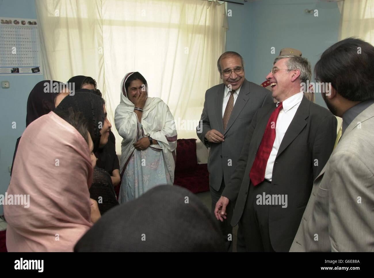 Jack Straw - Afghanistan Visit - Stock Image
