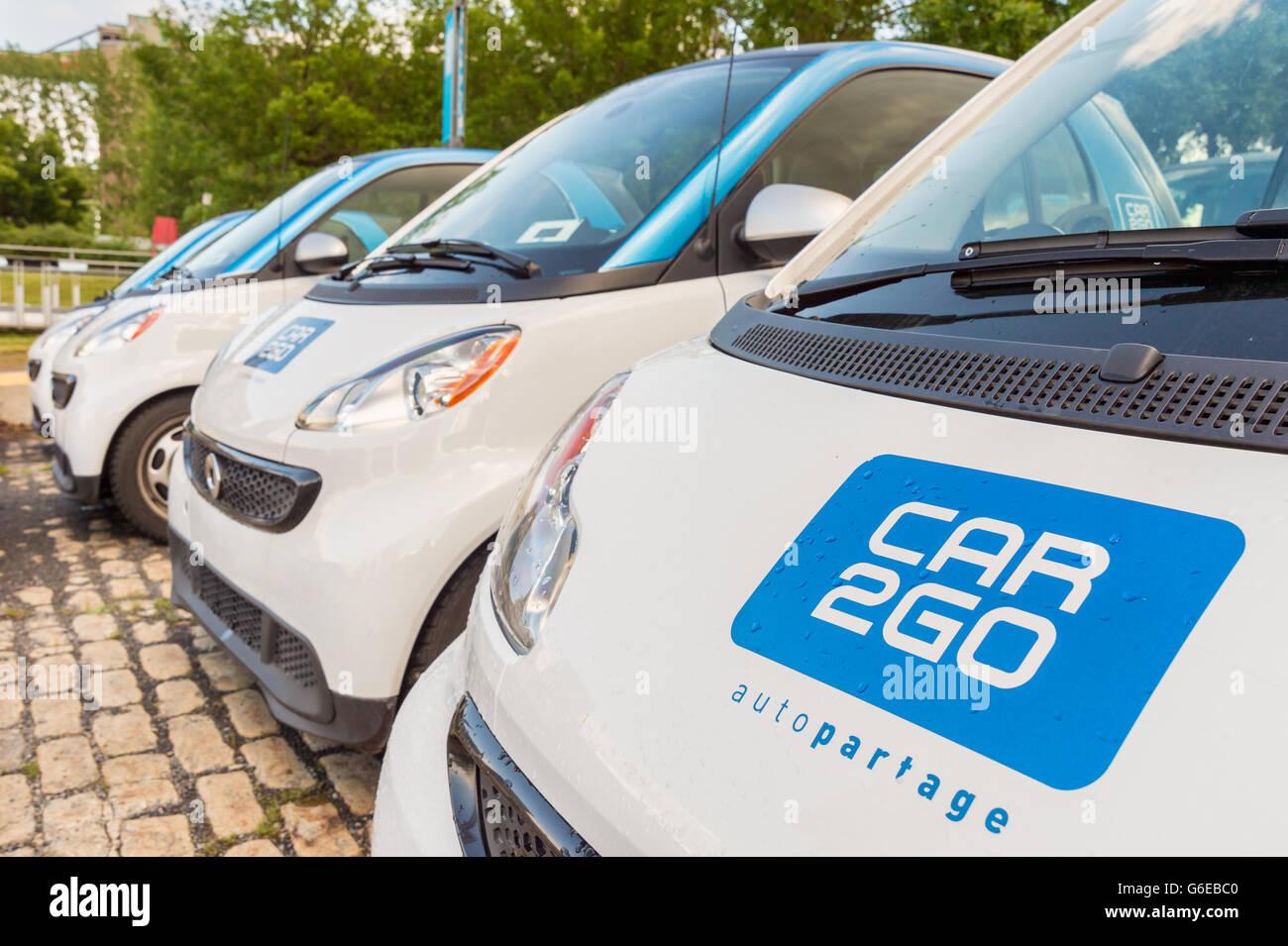 Car Rental Montreal >> C8 Alamy Com Comp G6ebc0 Car2go Rental Cars Parked