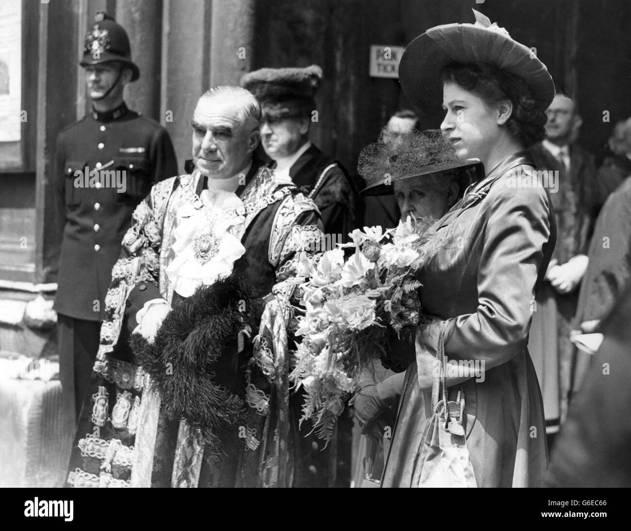 Royalty - Princess Elizabeth - Freedom of the City of London - Stock Image