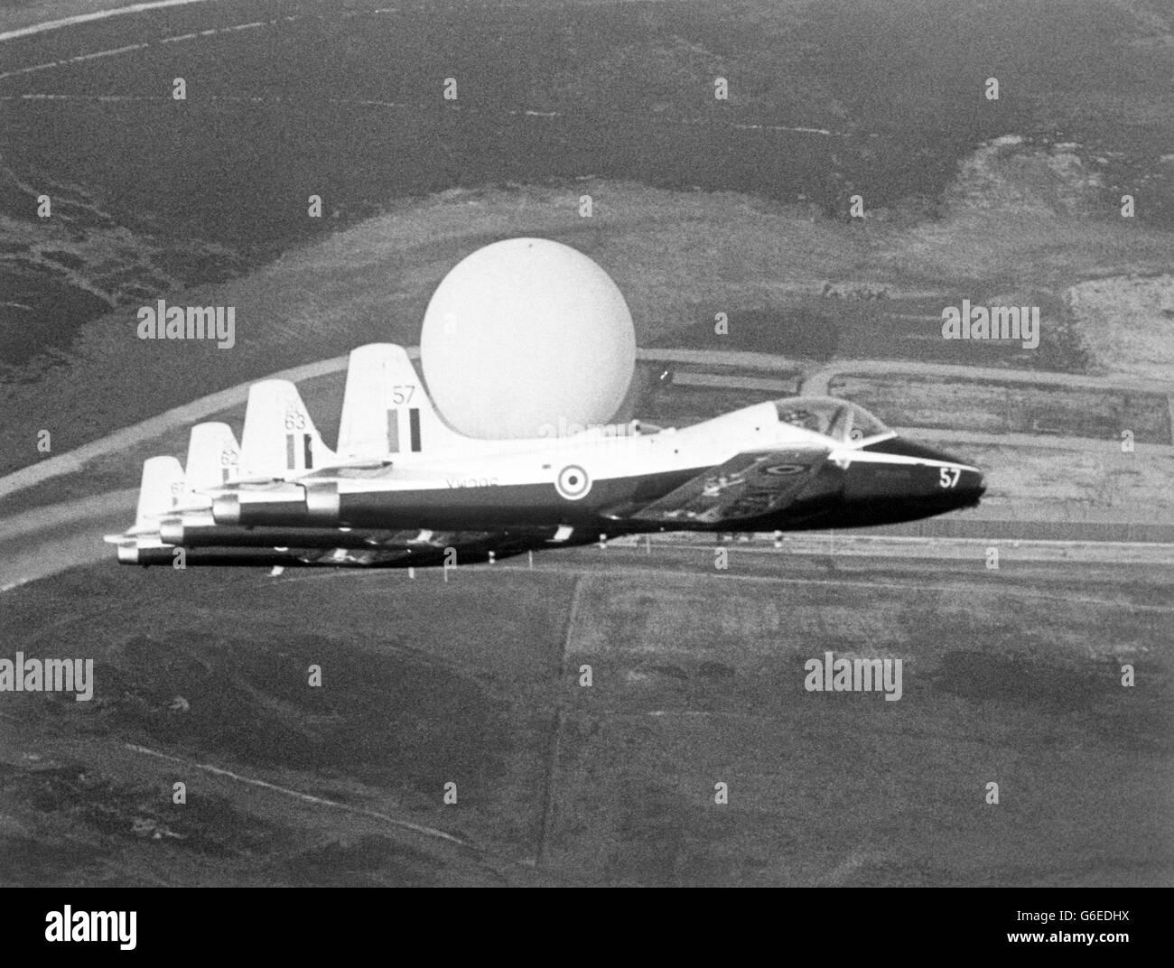 RAF Fylingdales - North York Moors - Stock Image