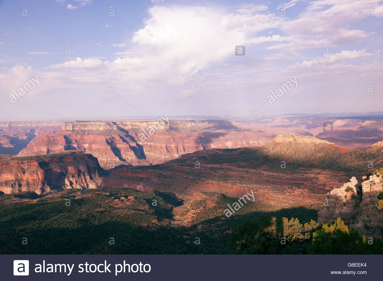 View from Crazy Jug Point North Rim Grand Canyon National Park Arizona Stock Photo