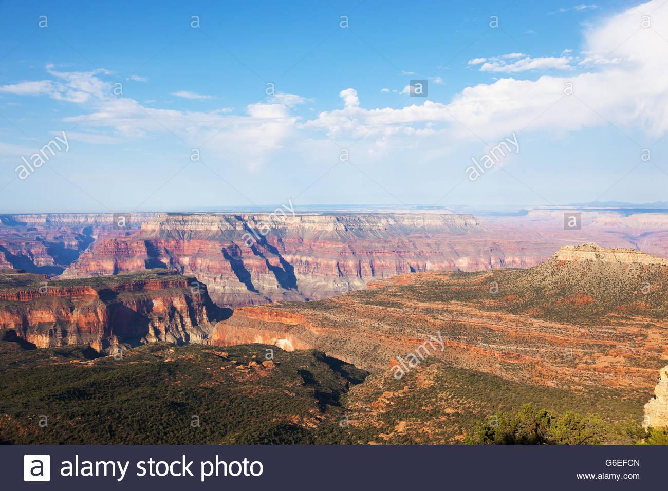 View from Crazy Jug Point North Rim Grand Canyon National Park Arizona Stock Photo