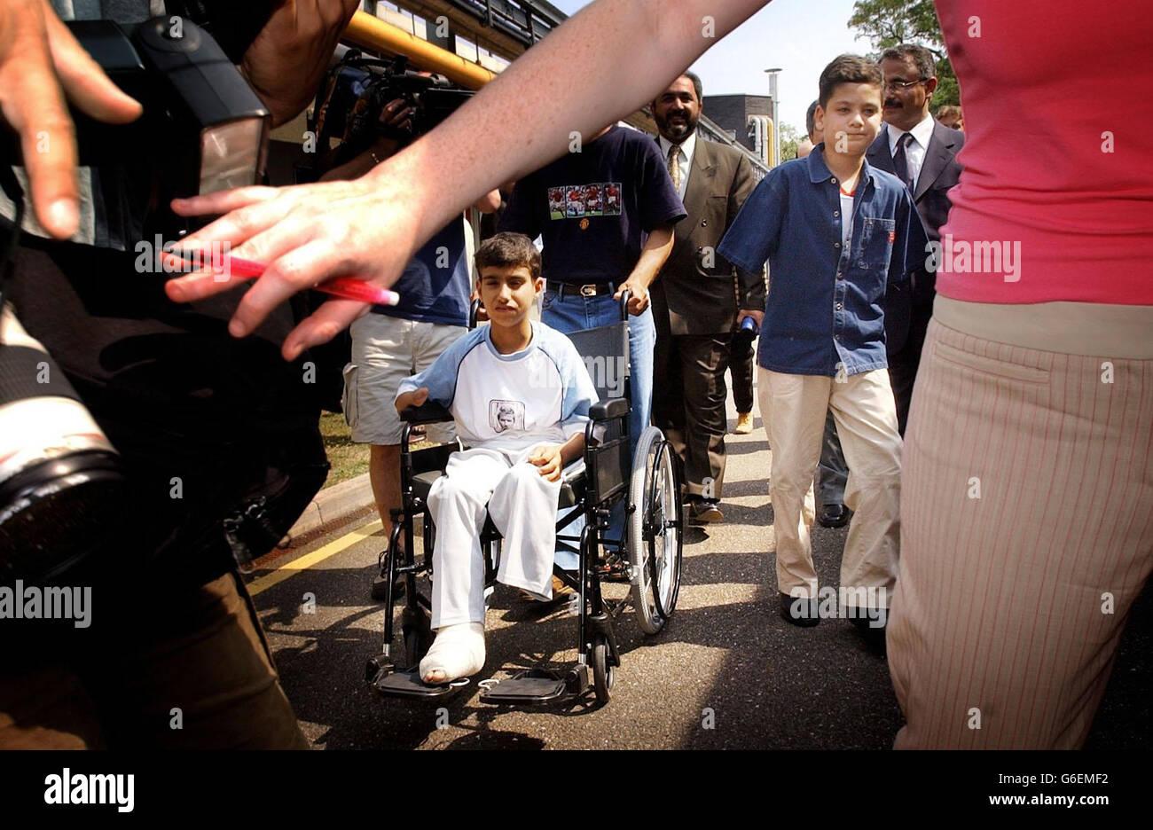 Iraq war victim Ali Ismaeel Abbas in Roehampton - Stock Image