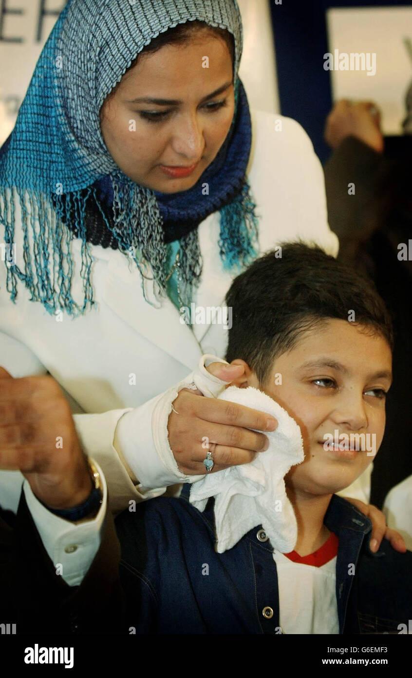 Gulf War victim Ali Ismaeel Abbas in Roehampton - Stock Image