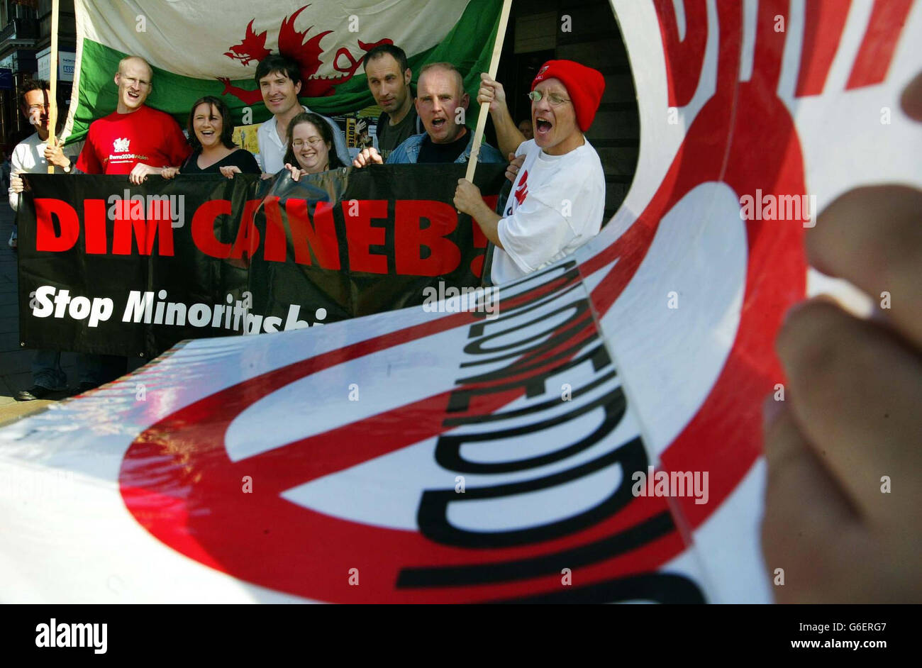 Janet Street Porter Anti-Welsh Protest - Stock Image
