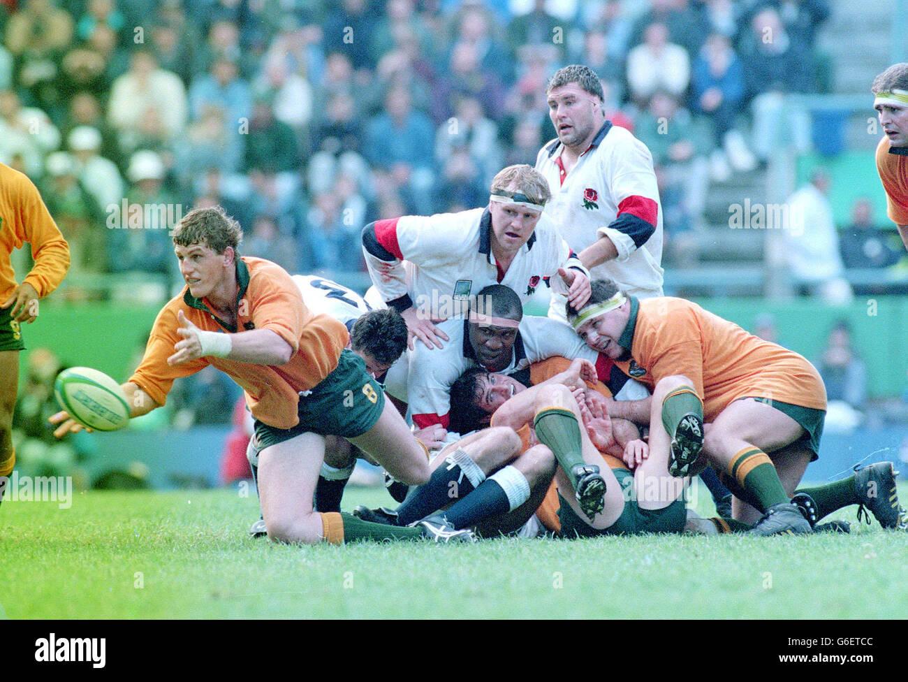 1995 World Cup England vs Australia - Stock Image