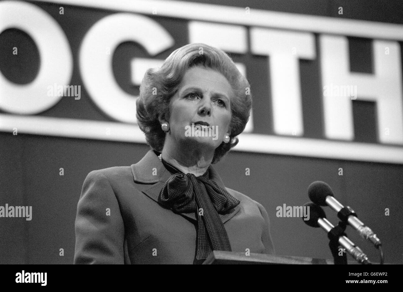 Thatcher Closing Speech - Stock Image