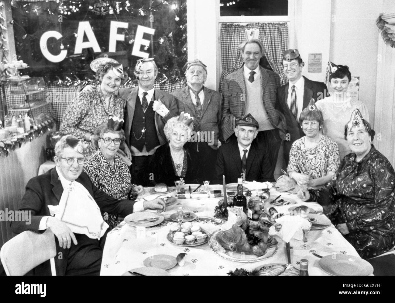 Television - BBC - Last of the Summer Wine Christmas Special - Stock Image