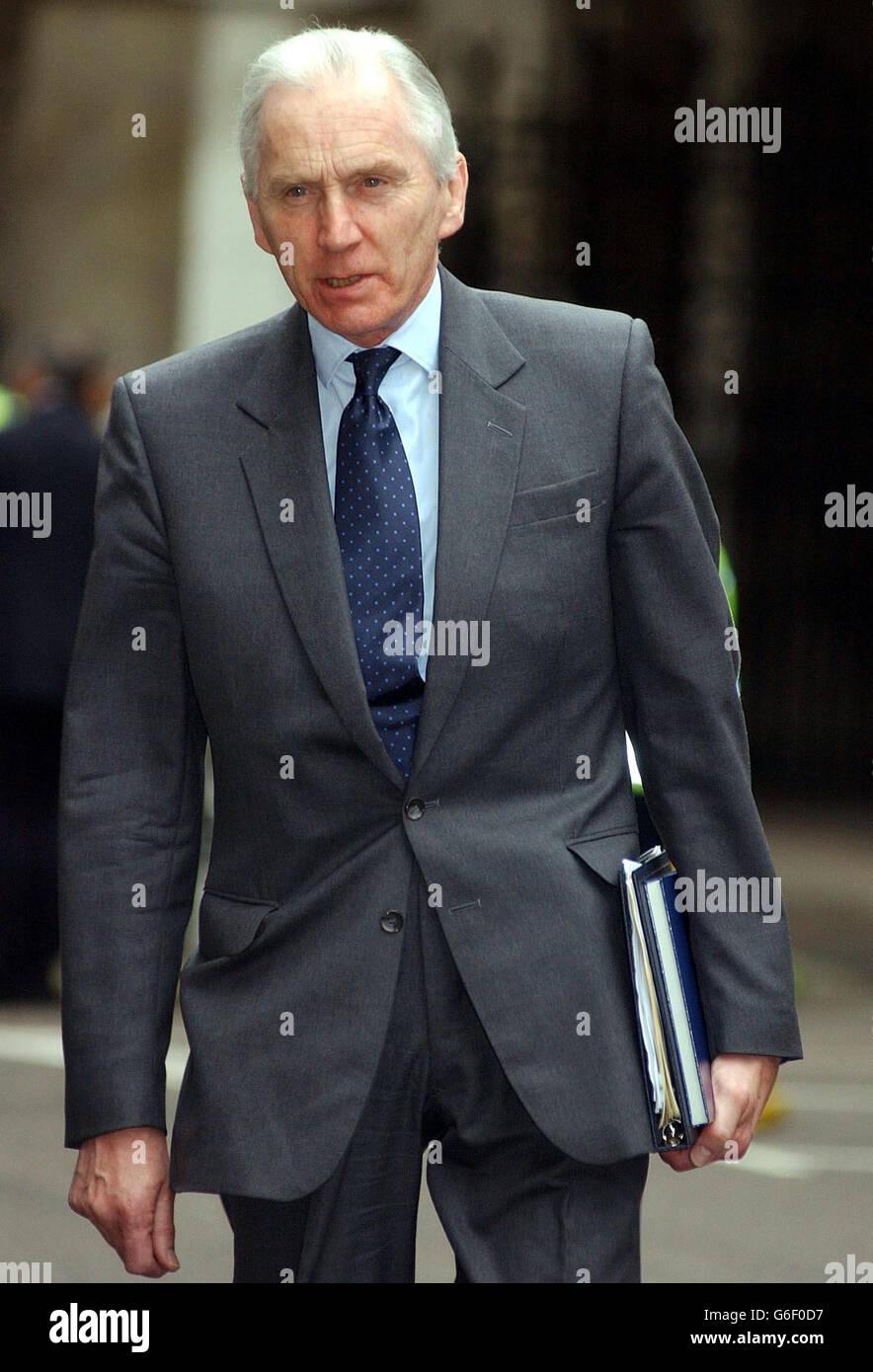 Lord Hutton David Kelly inquiry - Stock Image