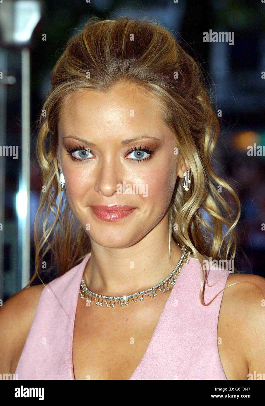 actress kristanna loken arriving at the odeon leicester square stock