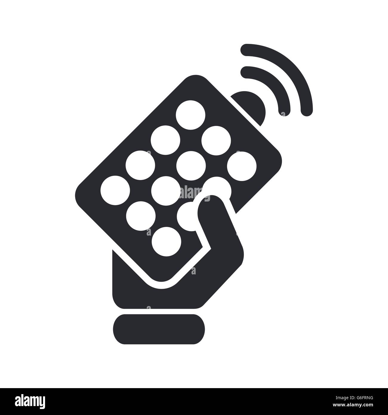 Vector illustration of single isolated remote icon - Stock Image