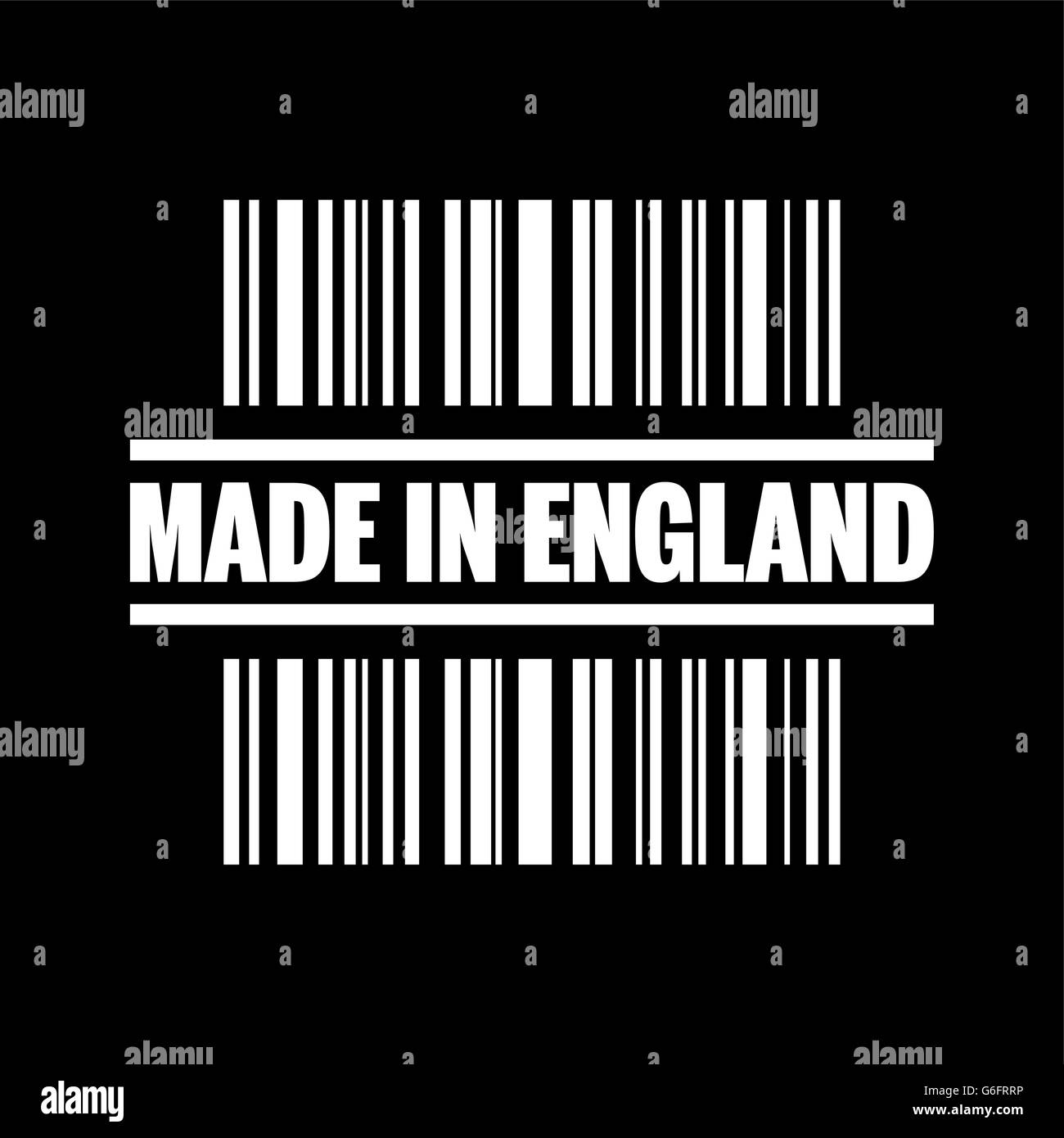Vector illustration of single isolated made in England icon - Stock Vector