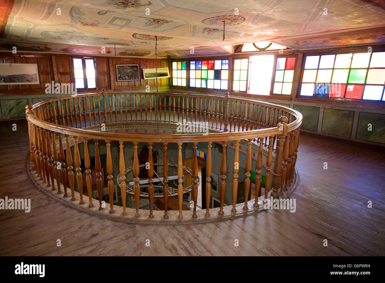 Interior of the  house of Arthur Rimbaud, now a small museum. Harar, Ethiopia. - Stock Image