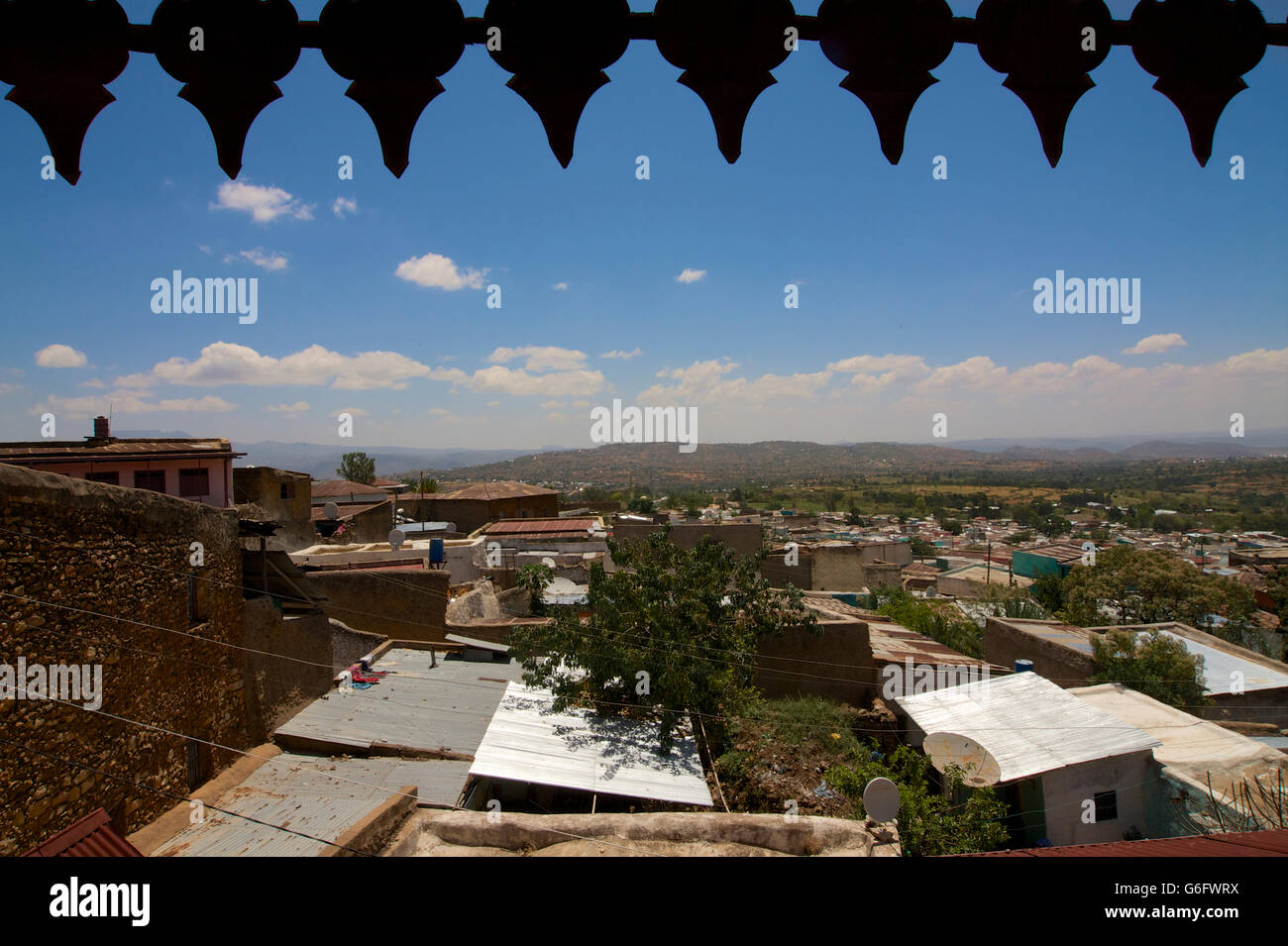 The house of Arthur Rimbaud. View of Harar. Ethiopia - Stock Image