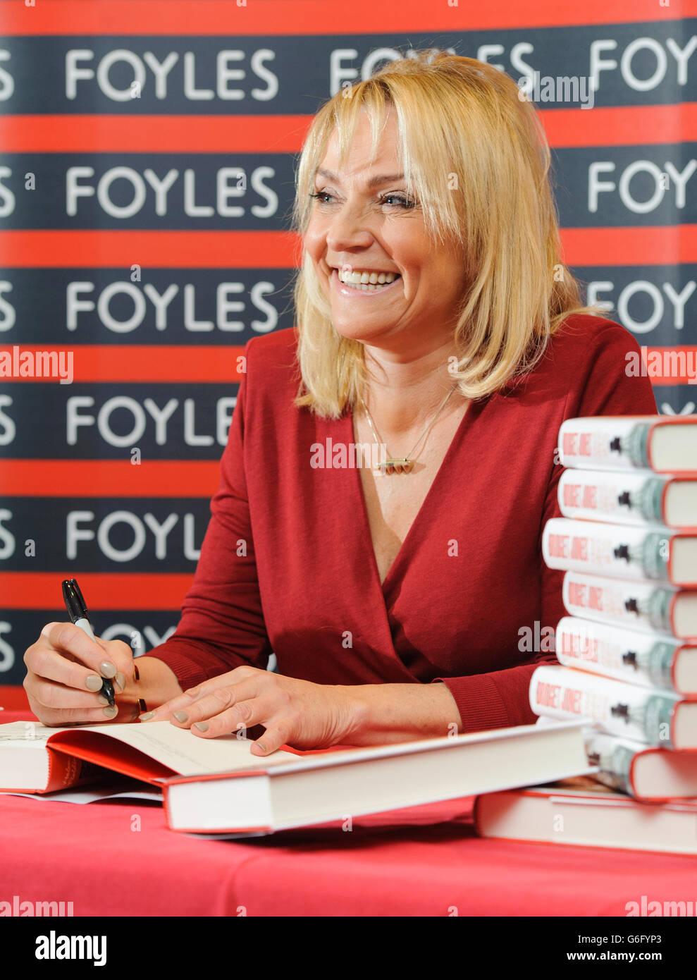 Helen Fielding 'Bridget Jones - Mad About The Boy' signing - London Stock Photo