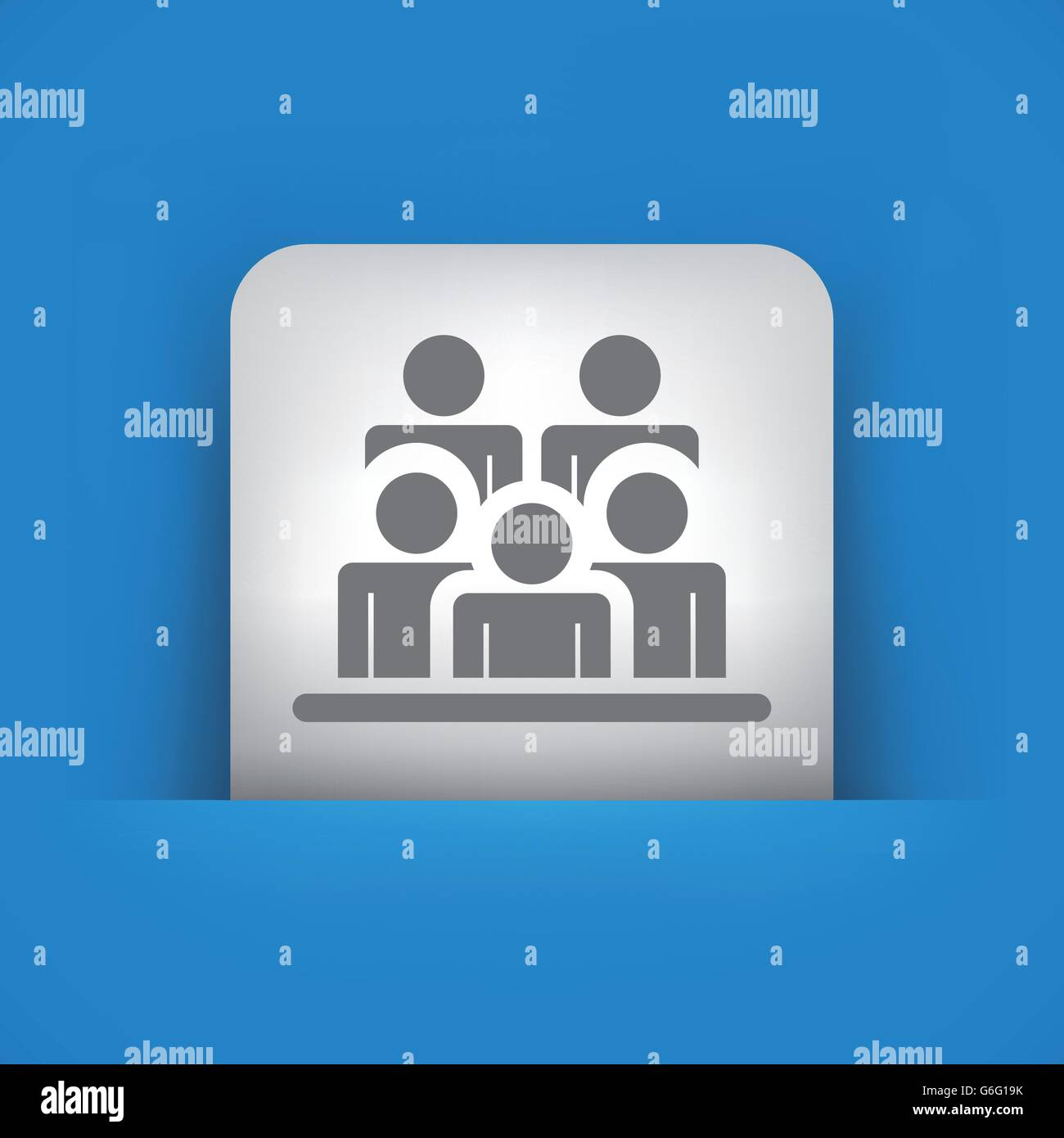 Vector illustration of single blue and gray isolated icon. - Stock Vector
