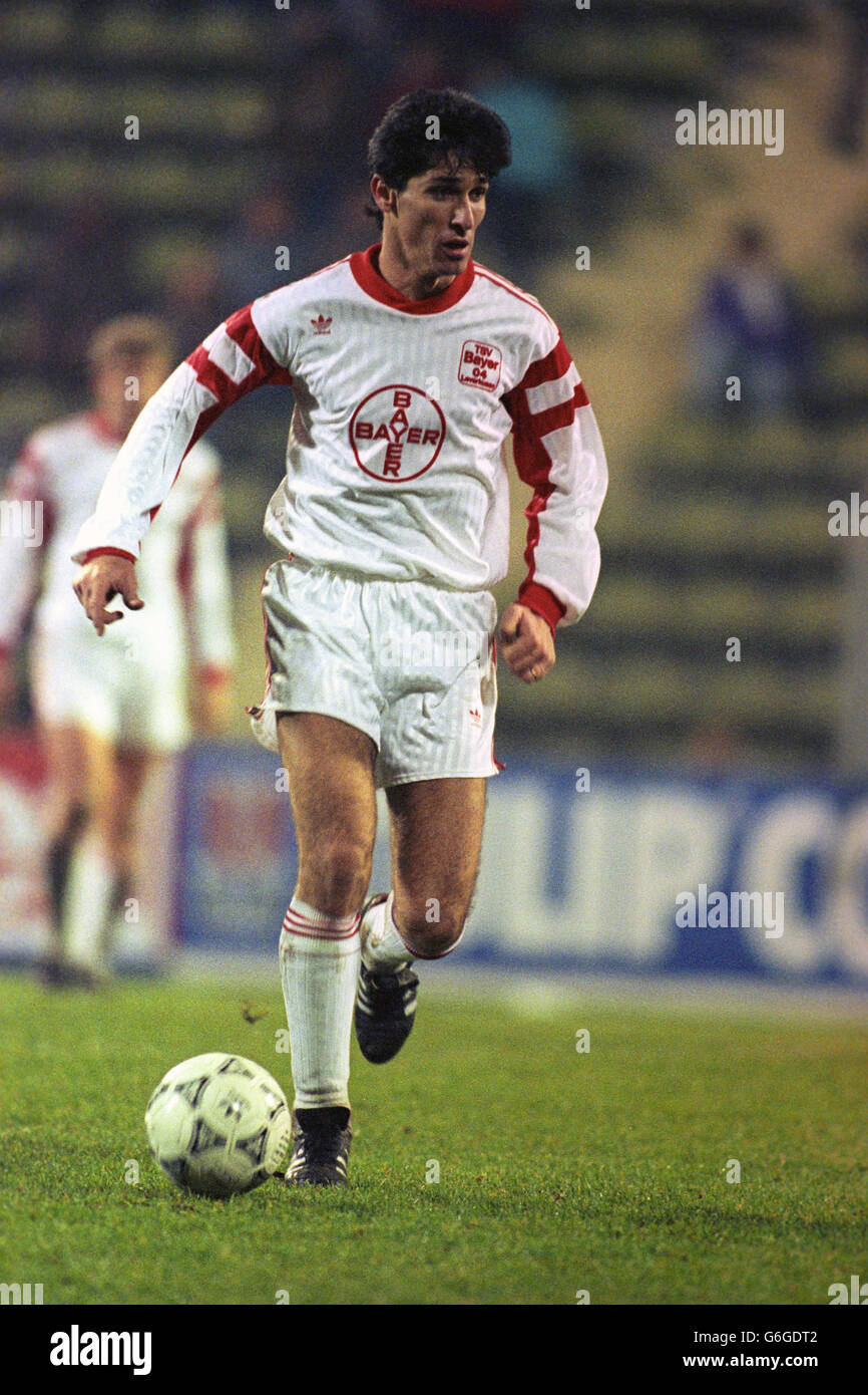 Soccer - UEFA Cup - Third Round - Bayer Leverkusen v Brondby IF - Stock Image