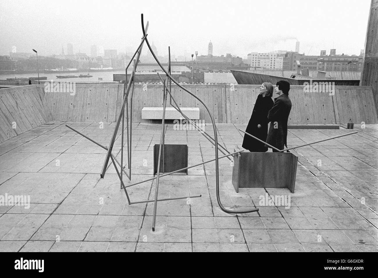 Art - Anthony Caro Retrospective Exhibition - Hayward Gallery, London - Stock Image