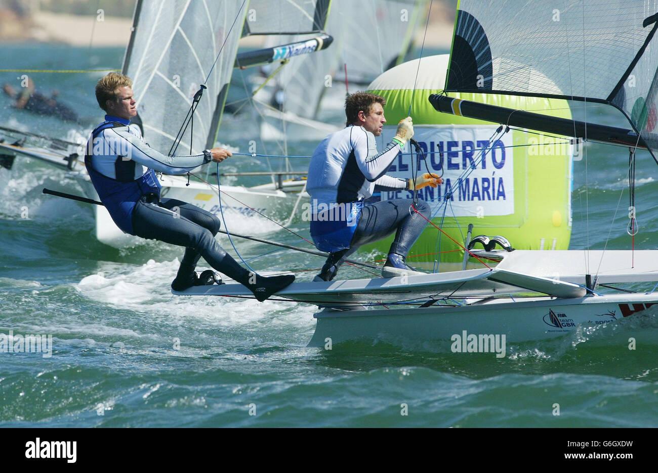 49er class  Sailing World Championships - Stock Image