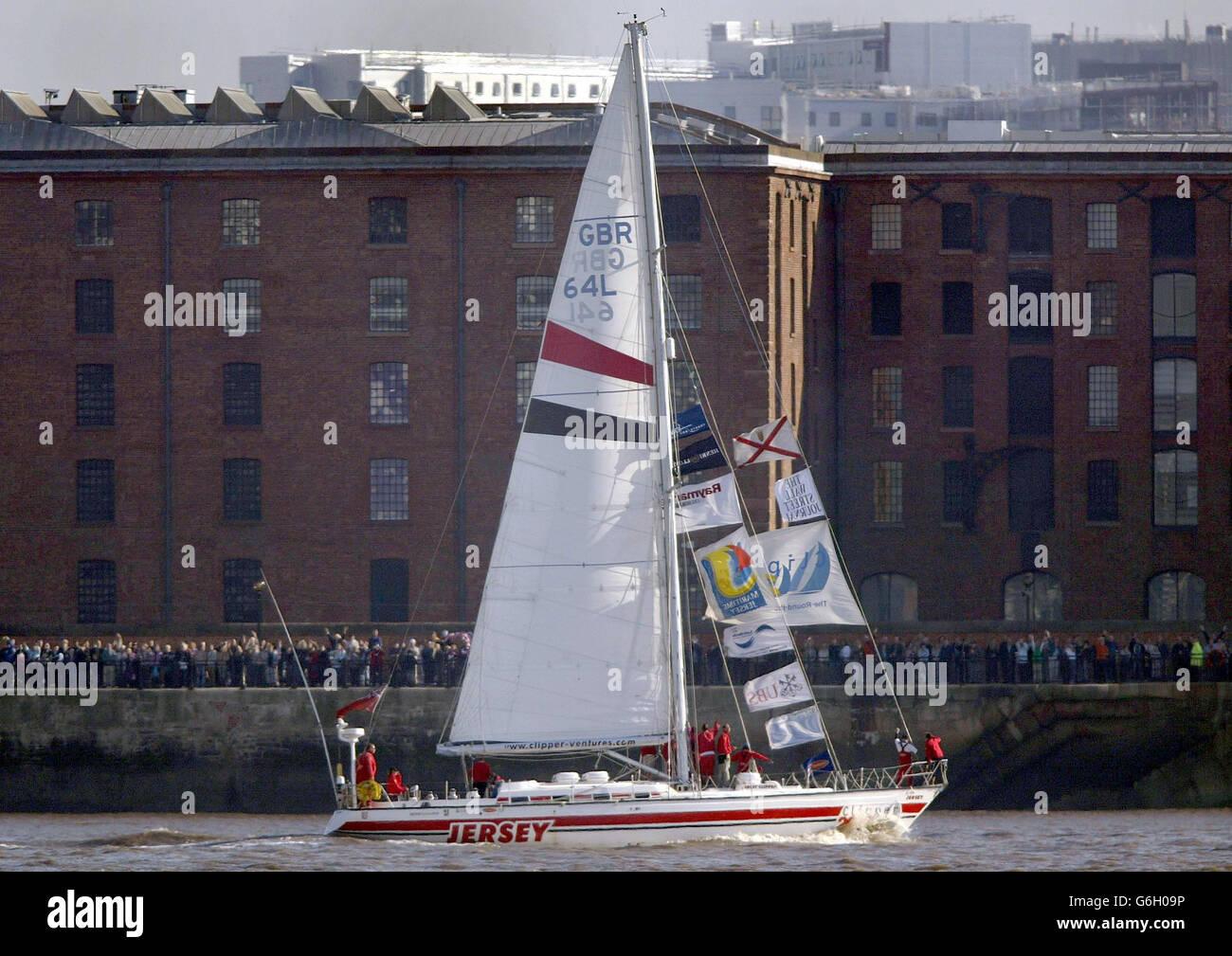 Round The World Yacht Race - Stock Image