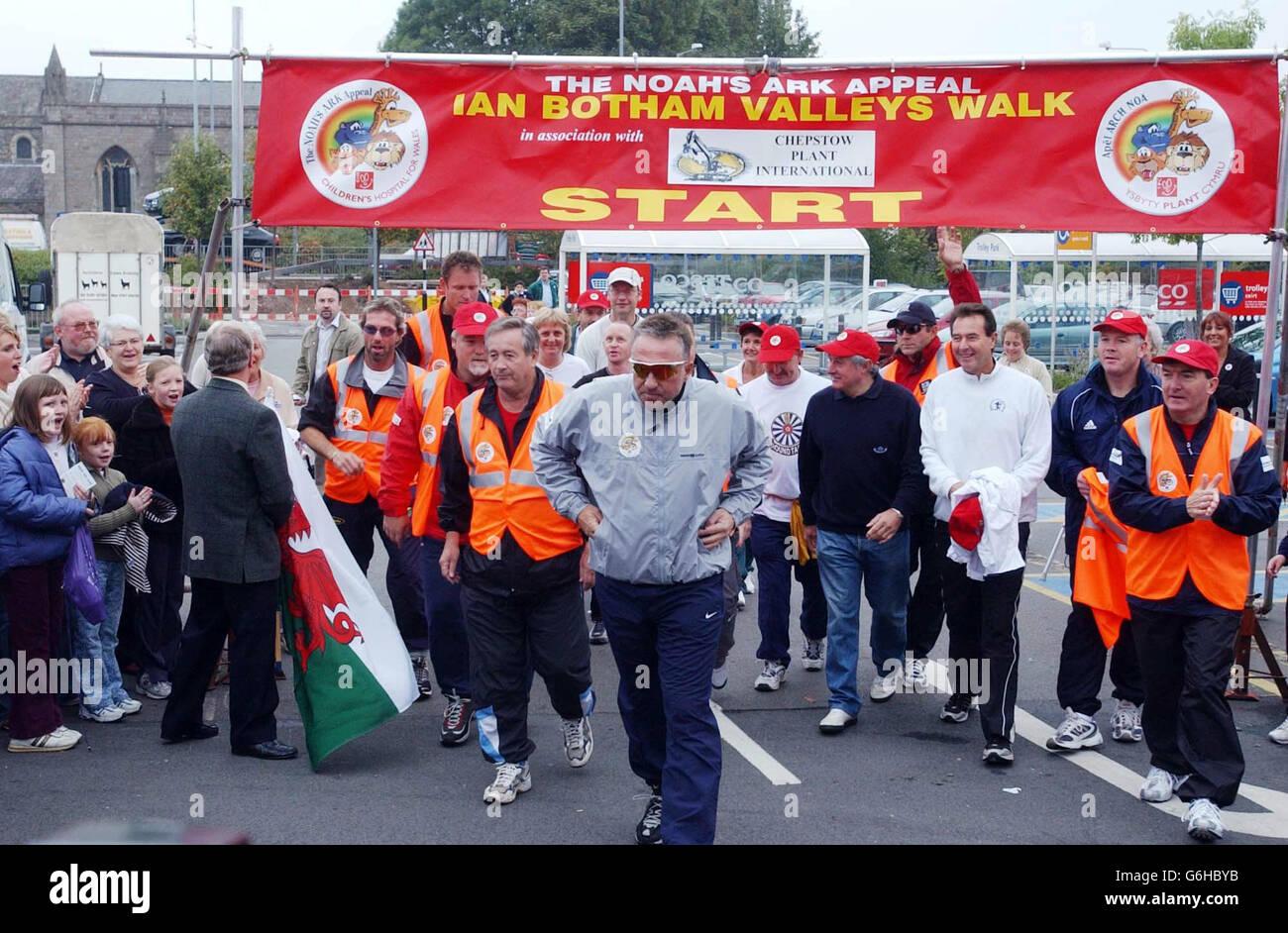 Ian Botham Charity Walk - Stock Image