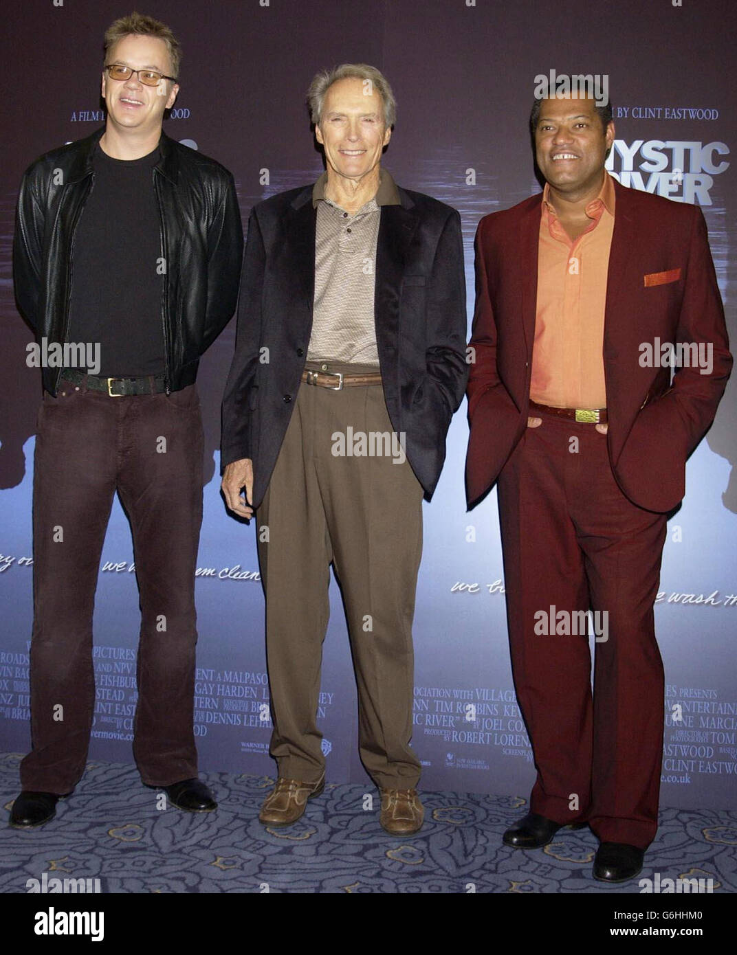 Robbins, Fishburne and Eastwood Mystic River Premiere Stock Photo - Alamy