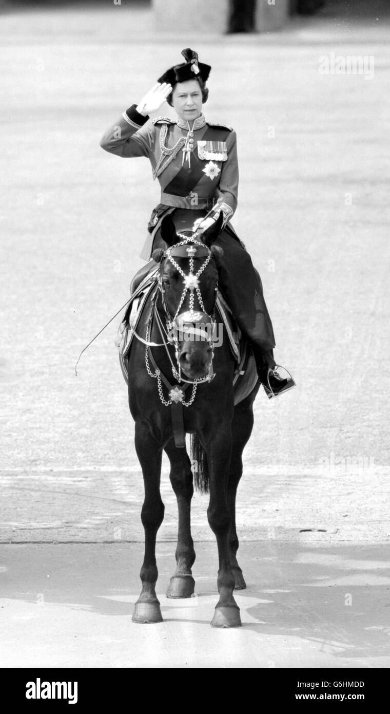 Royalty - Trooping the Colour - Horse Guards Parade - Stock Image