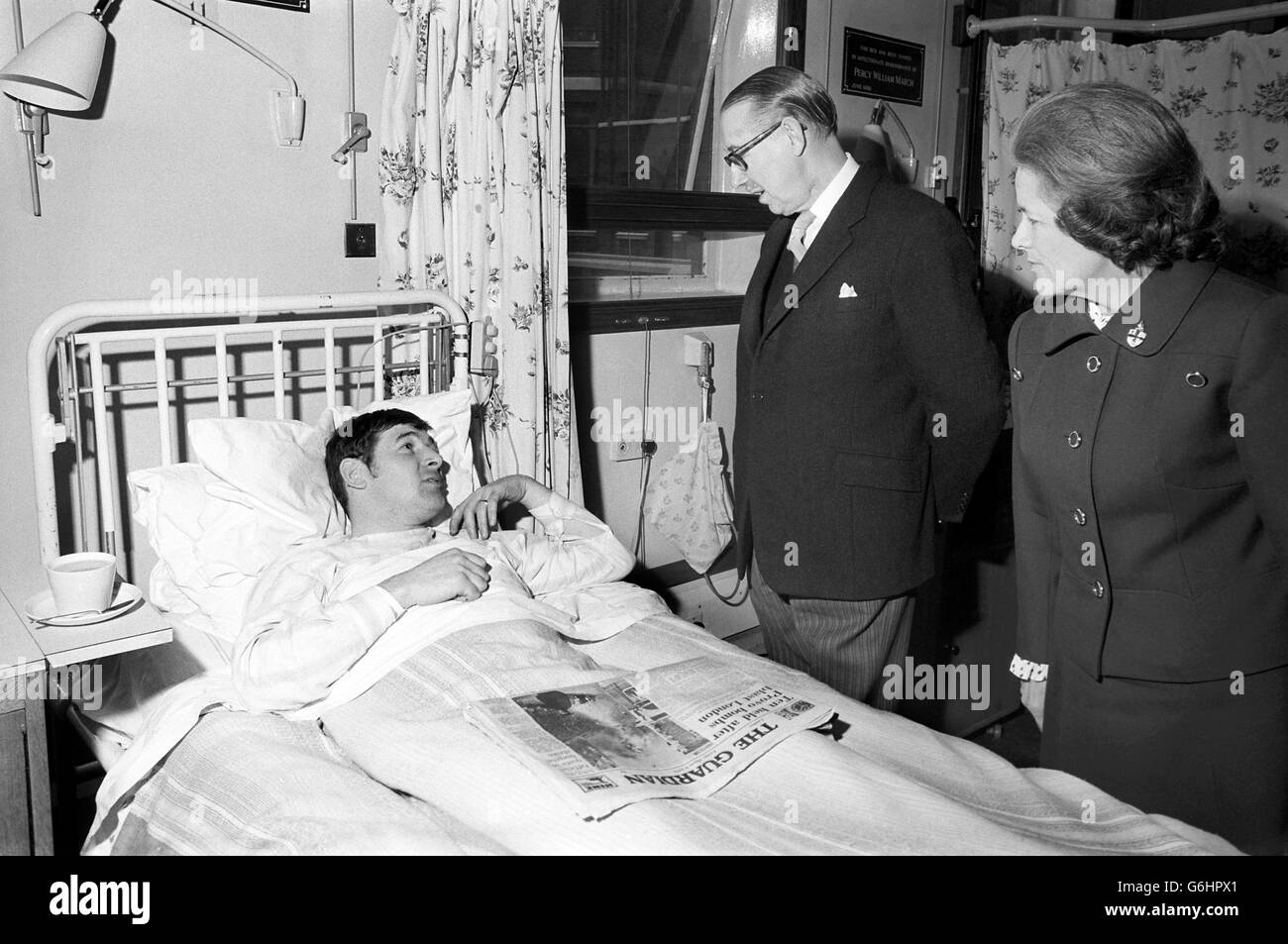 News - Old Bailey Bomb - Lord Mayor of London - St Bartolomew's Hospital - Stock Image