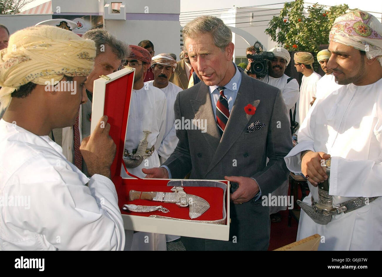 Prince Charles Visit to the British School in Muscat Stock