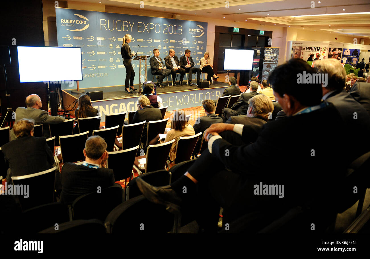 Rugby Expo 2013 - Day One - Twickenham Stadium - Stock Image