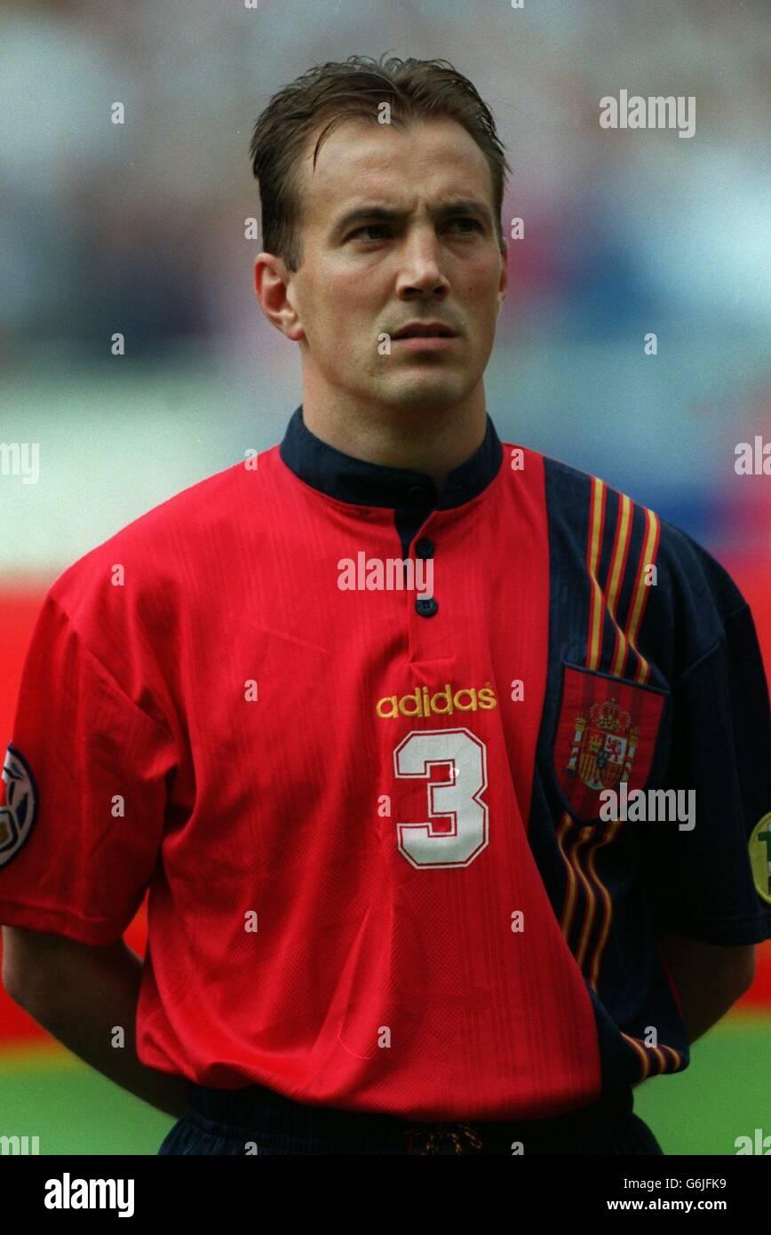 Soccer, Euro 96. England v Spain, Wembley. Alberto Belsue, Spain Stock Photo