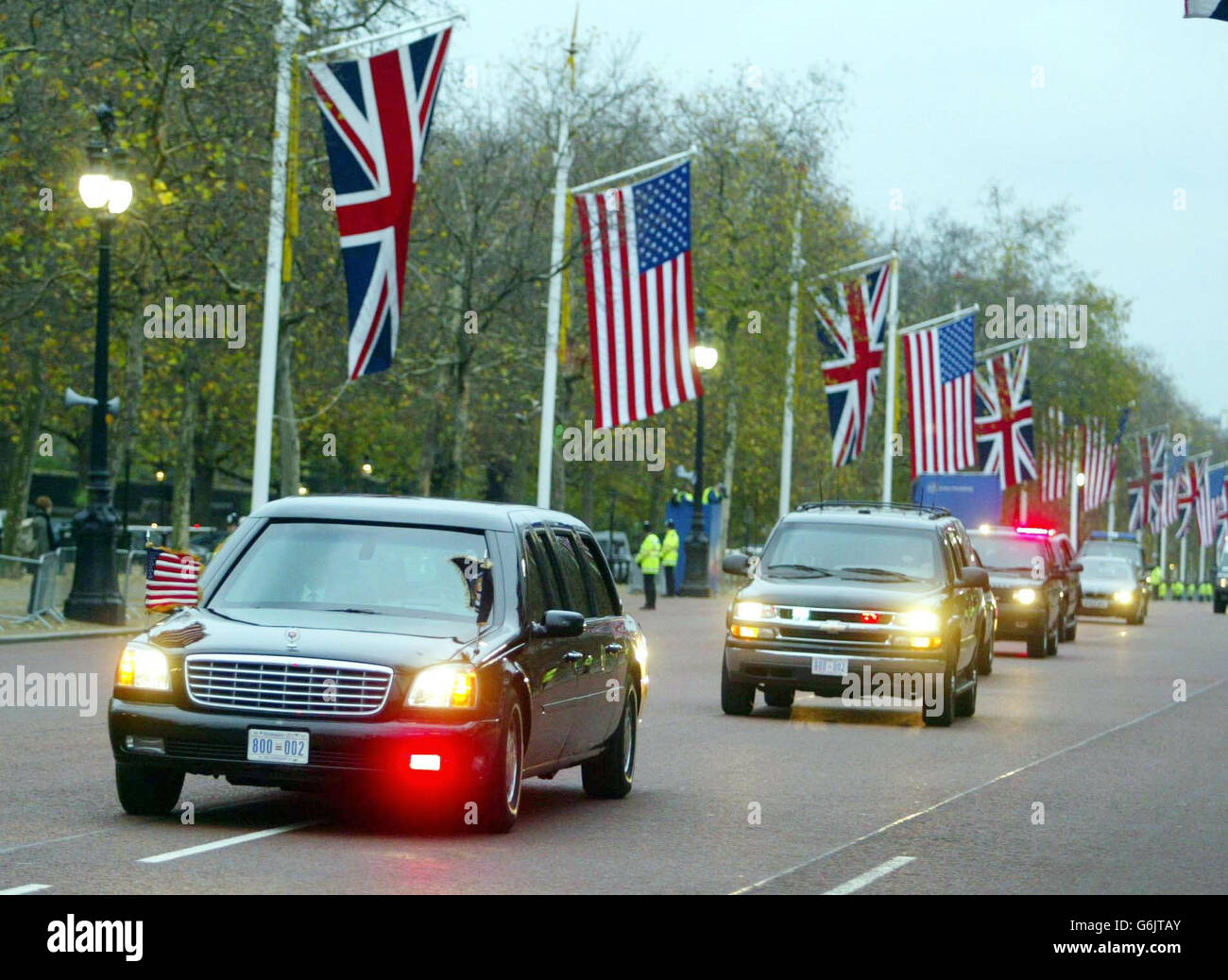 George Bush's Convoy - Stock Image
