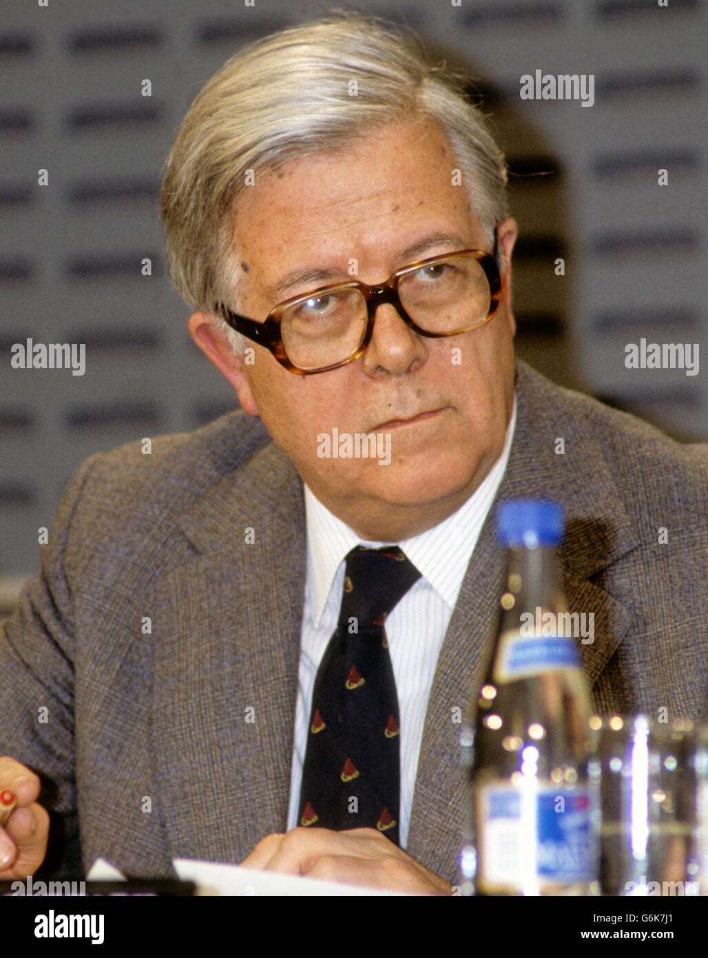 GEOFFREY HOWE Minister of foreign affairs - Stock Image