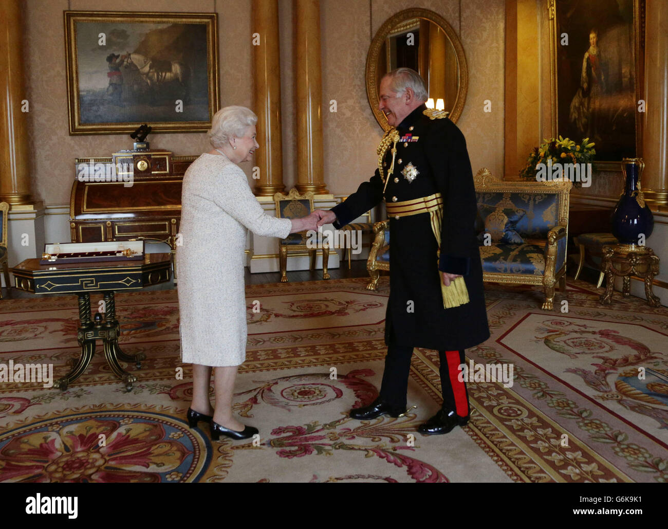 Lord Guthrie receives Field Marshal's Baton Stock Photo