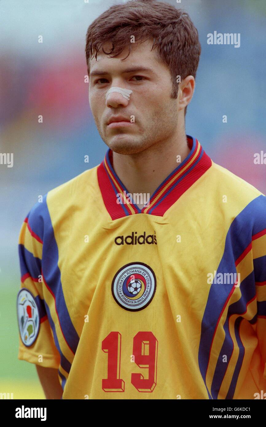 Soccer. Euro 96. Romania v Spain. Adrian Ilie, Romania Stock Photo