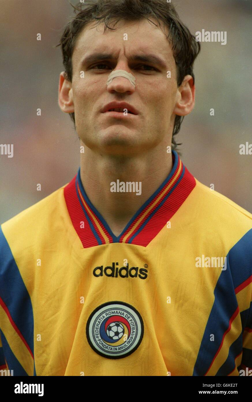 Soccer.  Euro 96. Romania v Spain Stock Photo
