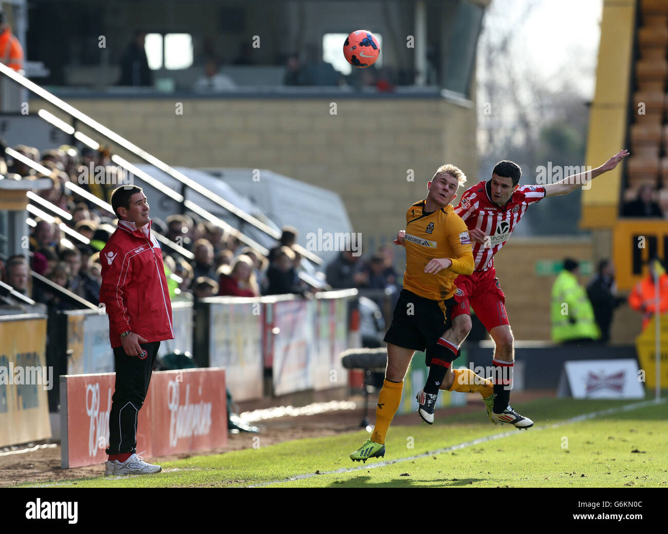 Soccer - FA Cup - Second Round - Cambridge United v Sheffield United - R Costings Abbey Stadium - Stock Image