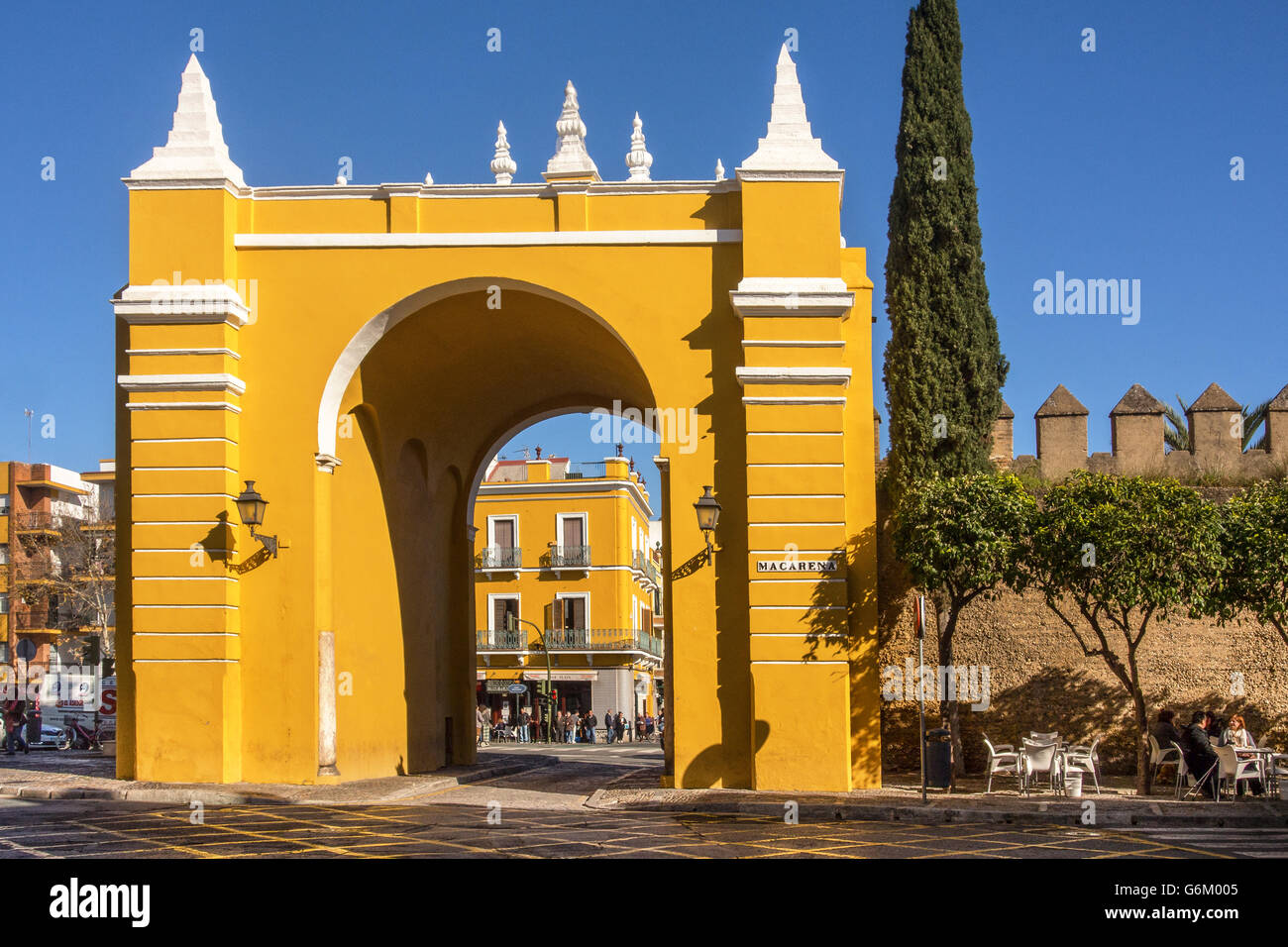 SEVILLE, SPAIN:  Puerta de la Macarena (Macarena Gate) in the city walls - Stock Image