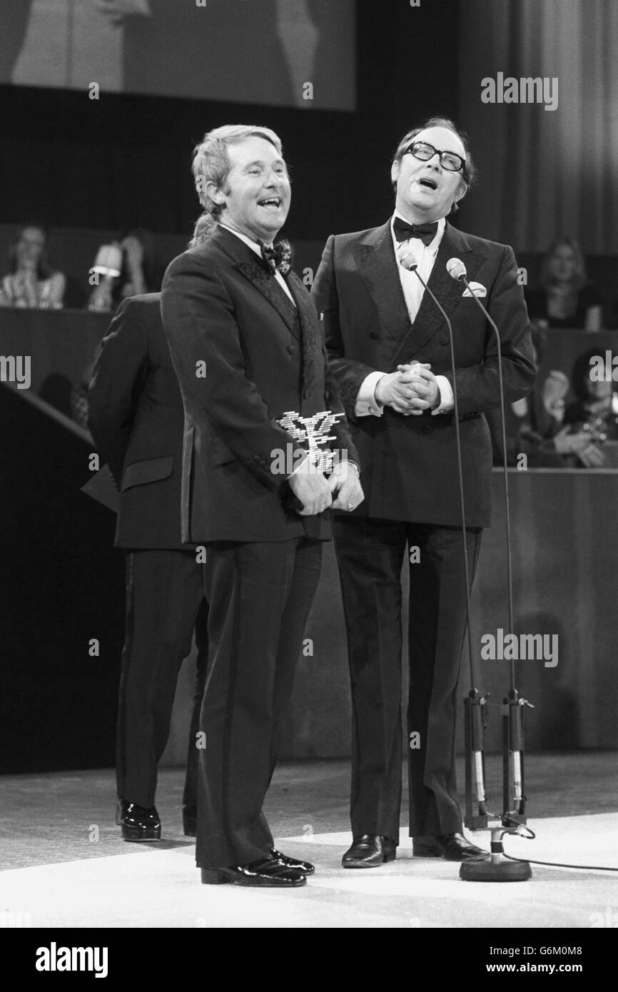 Entertainment - Film and Television Arts Awards Presentation Dinner - Eric Morecambe and Ernie Wise - London - Stock Image