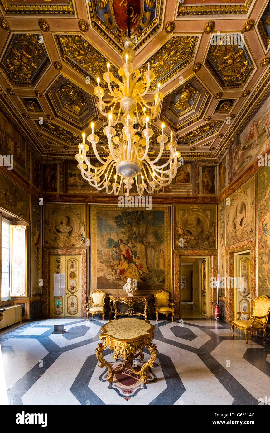 Interior of room  at Capitolini Museums in Rome Italy - Stock Image