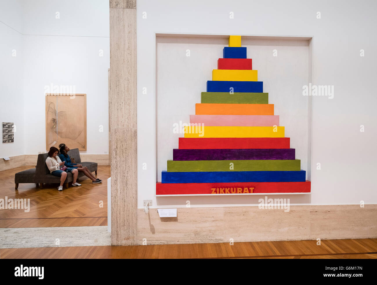Installation Zikkurat 2 by Sam Tilson at  National Gallery of Modern and Contemporary Art , Rome, Italy - Stock Image
