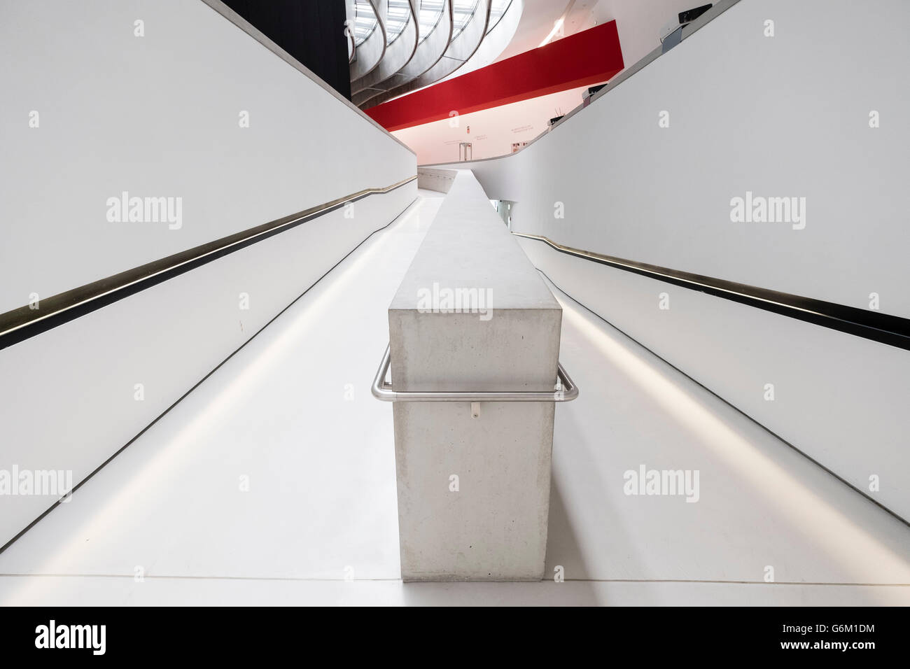Interior of MAXXI National Centre of Contemporary Arts designed by Zaha Hadid in Rome, Italy Stock Photo