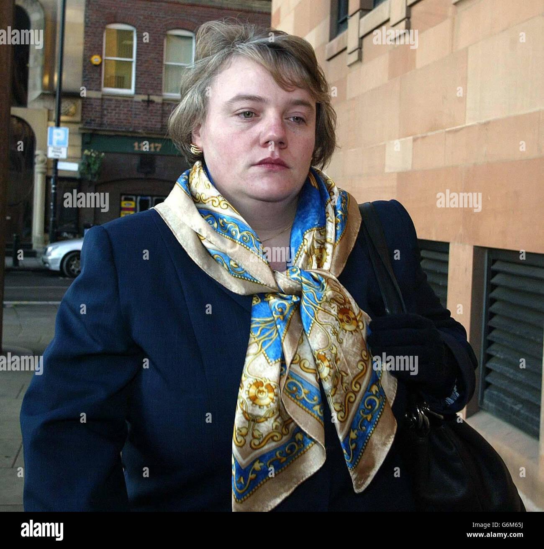 Christina Button Newcastle Crown court - Stock Image